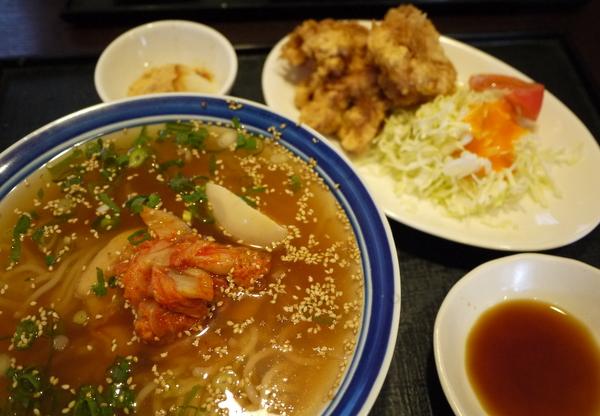 別府冷麺とミニとり天セット